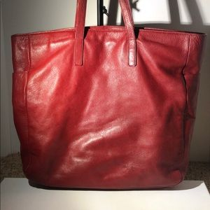 Express Design Studio - Red leather handbag